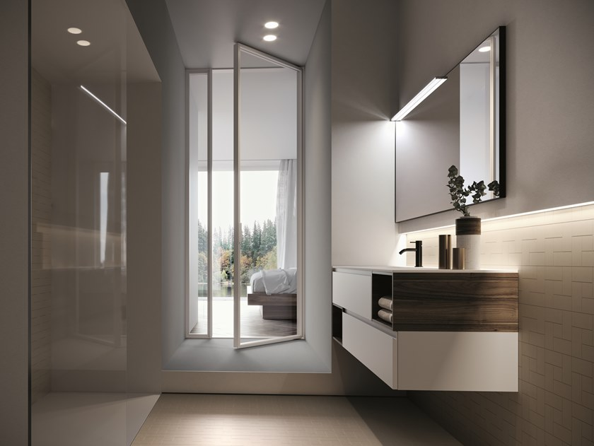 Wall-mounted vanity unit FORM 03 by Idea