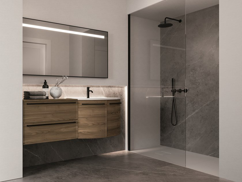 Wall-mounted vanity unit with drawers FORM 11 by Idea