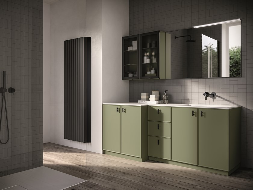 Floor-standing vanity unit FORM 12 by Idea