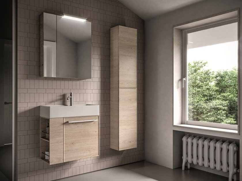 Wall-mounted vanity unit FORM 15 by Idea