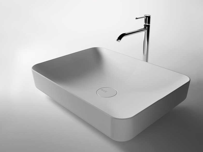 Countertop rectangular ceramic washbasin FORM | Rectangular washbasin by Alice Ceramica