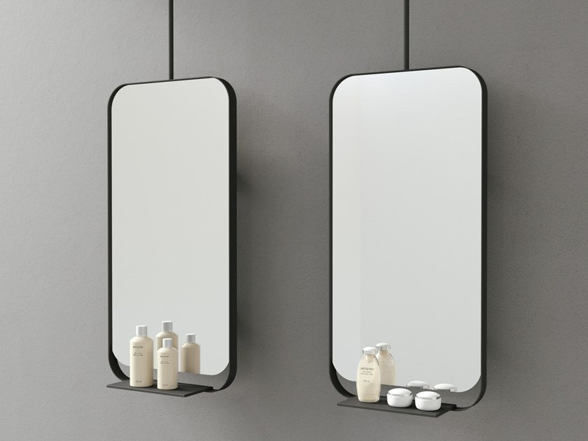 Specchio da parete con cornice e mensola FORMA   Specchio con cornice by DDL