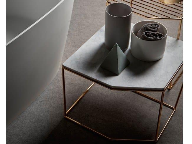 Marble bathroom stool FORMA   Marble bathroom stool by INBANI