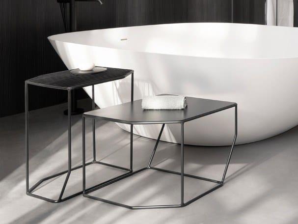 Metal bathroom stool FORMA | Metal bathroom stool by INBANI