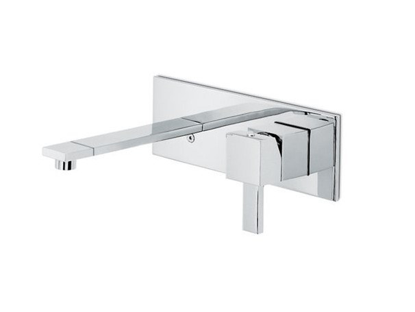 Wall-mounted washbasin mixer with plate FORMA | Wall-mounted washbasin mixer by newform