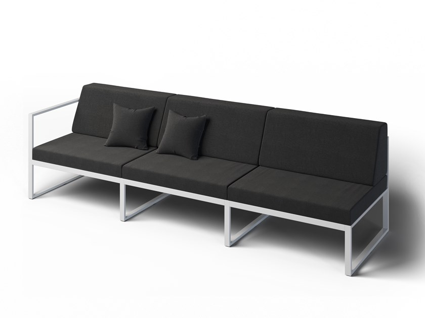 3 seater garden sofa left FORMAL | 3 seater garden sofa by Laubo