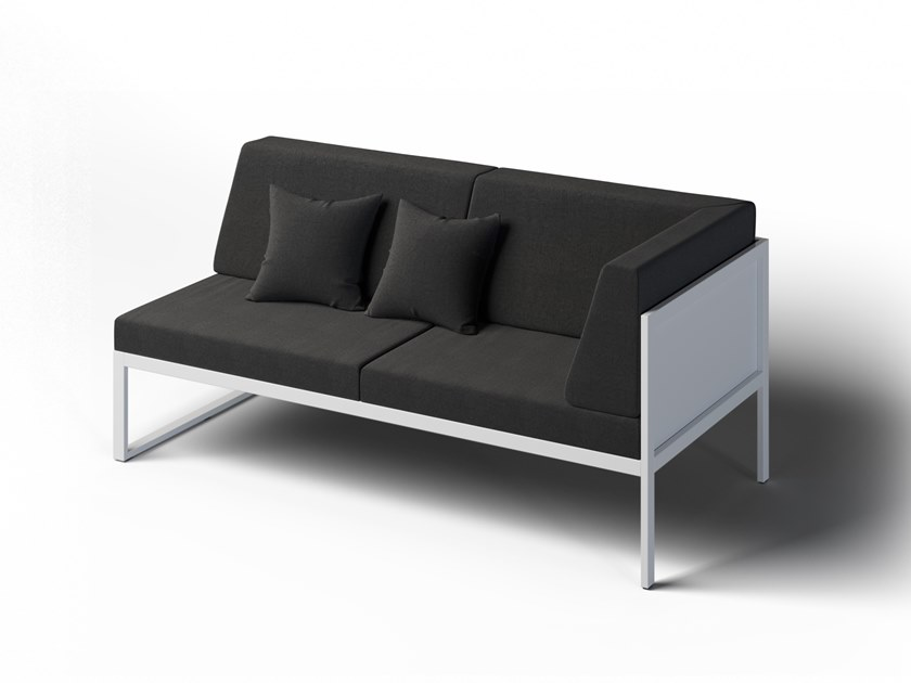 2 seater corner garden sofa right FORMAL | Corner garden sofa by Laubo