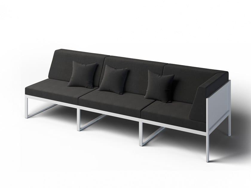 3 seater corner garden sofa right FORMAL | Corner garden sofa by Laubo