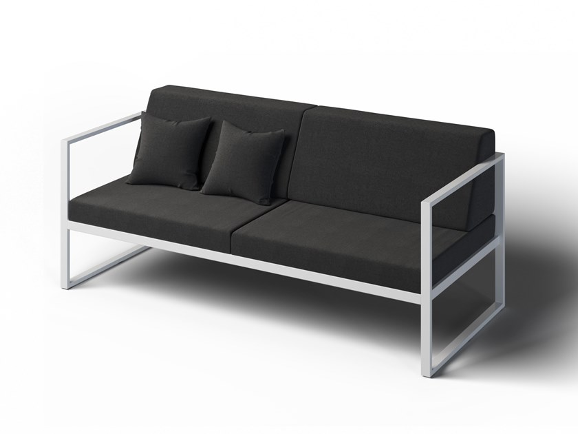 2 seater garden sofa with armrest FORMAL | Garden sofa by Laubo