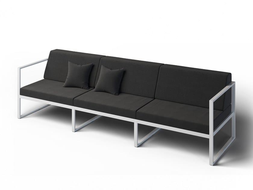 3 seater garden sofa with armrest FORMAL | Garden sofa by Laubo