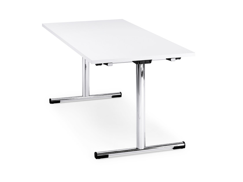Stackable folding rectangular HPL table FORMEO IS1 7012T by Interstuhl