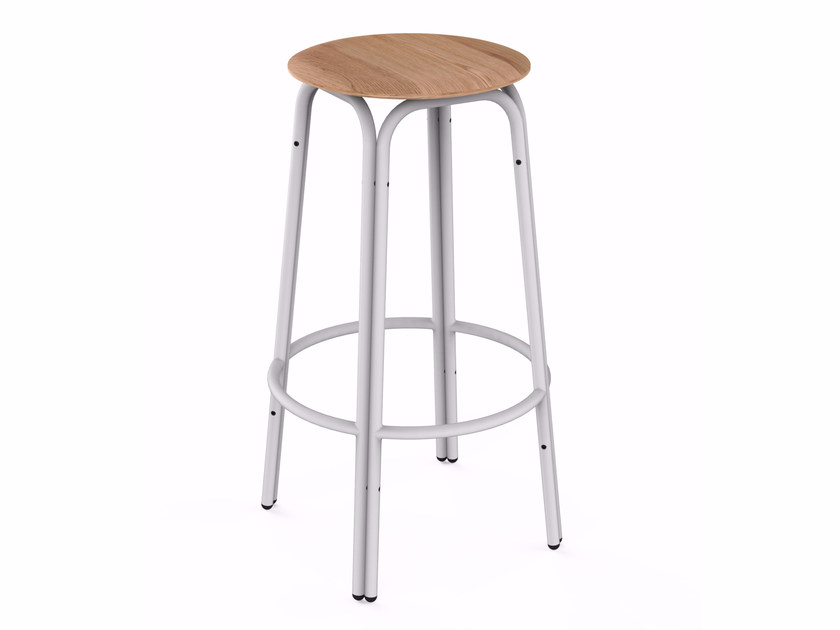 Stackable solid wood stool FORMOSA | Solid wood stool by bogaerts label