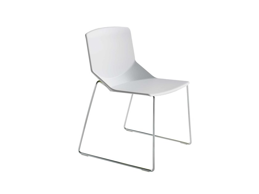 Sled base stackable structural polyurethane chair FORMULA TECH SL by Inday