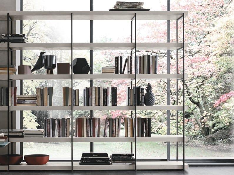 Double-sided bookcase FORTEBRACCIO by Gruppo Tomasella