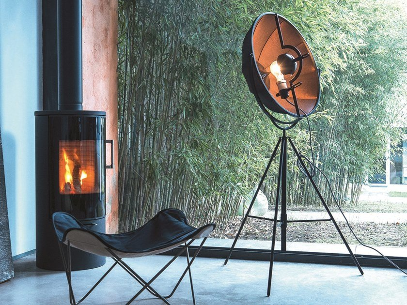 Adjustable floor lamp with dimmer FORTUNY BRONZE RUBELLI by Pallucco