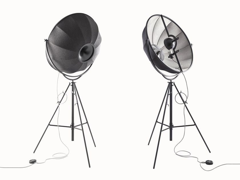 Adjustable floor lamp with dimmer FORTUNY SILVER RUBELLI by Pallucco