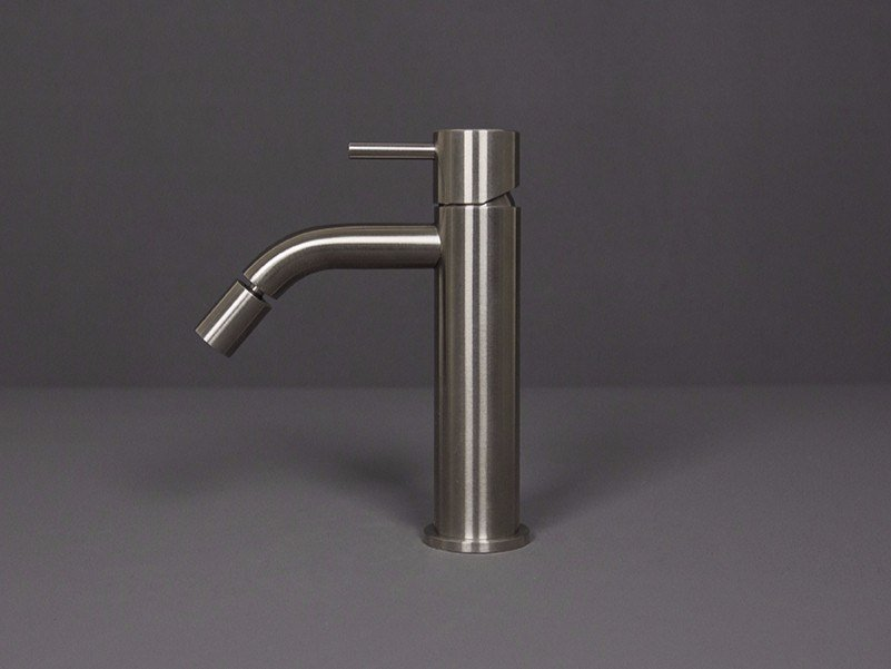Countertop single handle stainless steel bidet mixer FORTY - 1210031/2 by RIFRA