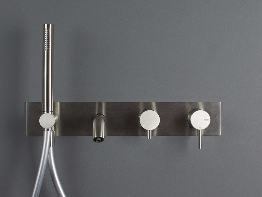Stainless steel bathtub tap / shower tap FORTY - 1210341/2 Forty ...