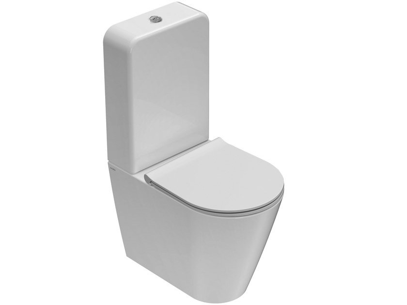 Close coupled ceramic toilet FORTY3 | Close coupled toilet by Ceramica Globo
