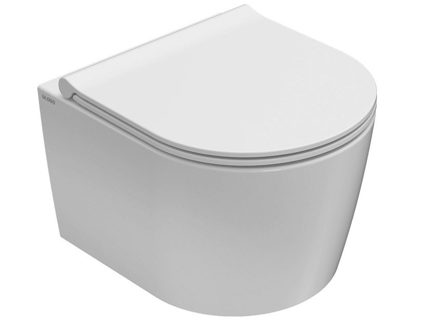 Wall-hung rimless ceramic toilet FORTY3 | Wall-hung toilet by Ceramica Globo