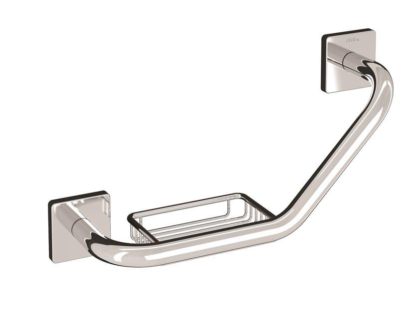 Brass grab bar with soap holder FORUM QUADRA | Grab bar with soap holder by INDA®