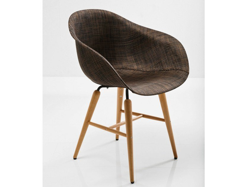 PVC chair FORUM WOOD BROWN by KARE-DESIGN