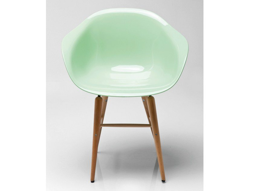 ABS chair FORUM WOOD MINT by KARE-DESIGN