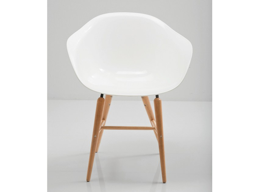 ABS chair FORUM WOOD WHITE by KARE-DESIGN