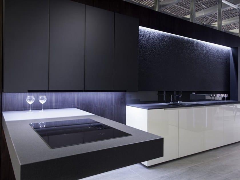 Top cucina in lapitec fossil nero antracite collezione