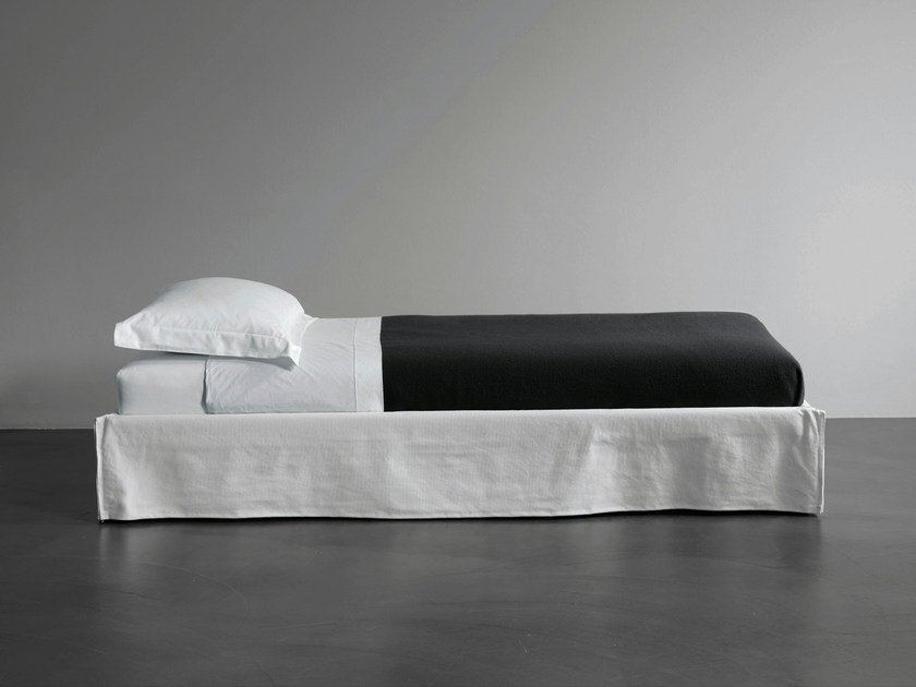 Bed with removable cover single bed FOX | Bed single bed by Meridiani