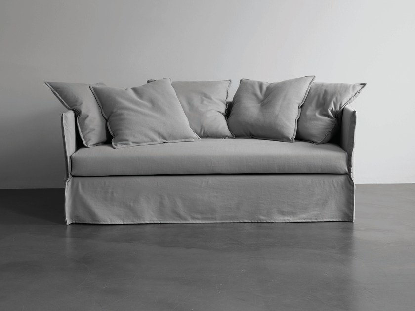 Sofa bed with removable cover FOX | Sofa bed by Meridiani
