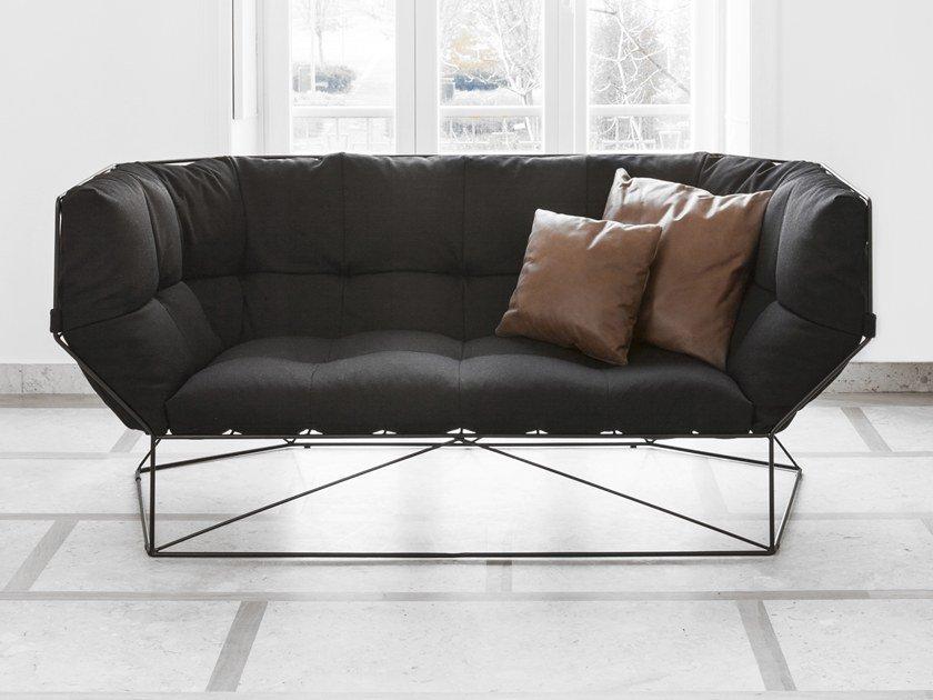 3 seater fabric sofa FOXHOLE by spHaus