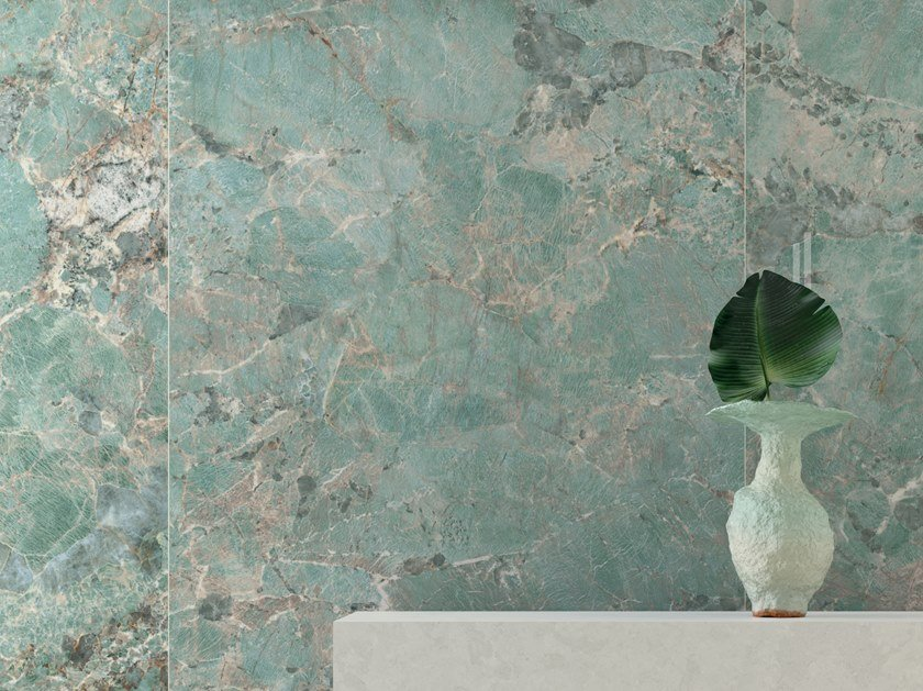 Pavimento/rivestimento in gres porcellanato effetto marmo FOYER ROYAL GREEN AMA by Marca Corona