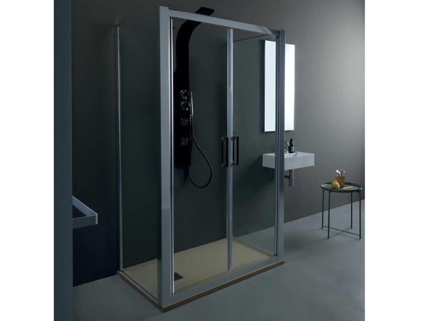 FPSL60 + FISSO   Box doccia centro stanza