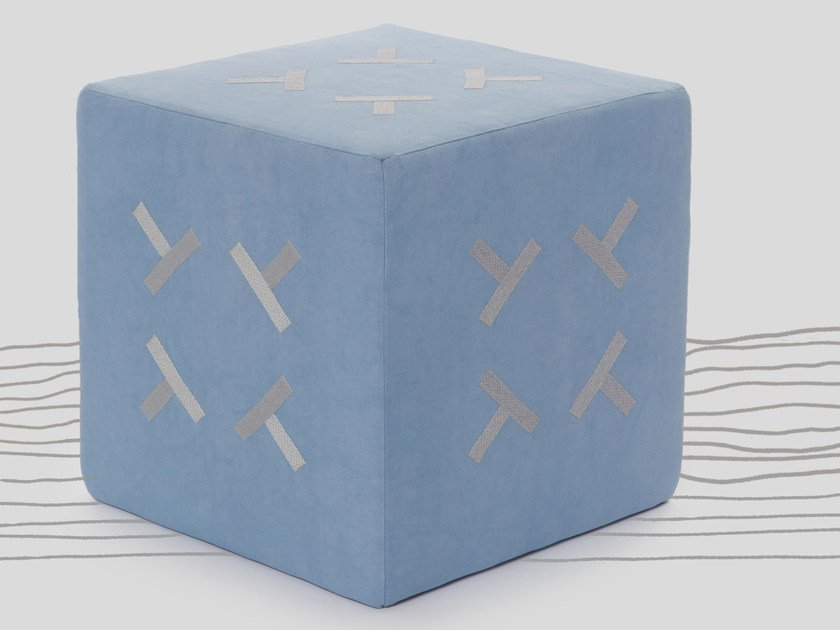Square pouf FRACTIONAL by Jupe by Jackie
