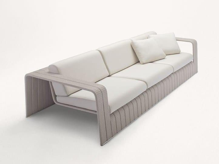4 seater fabric garden sofa FRAME | 4 seater garden sofa by paola lenti