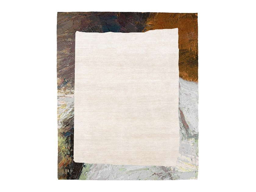 Handmade rug FRAME 904D by HENZEL STUDIO
