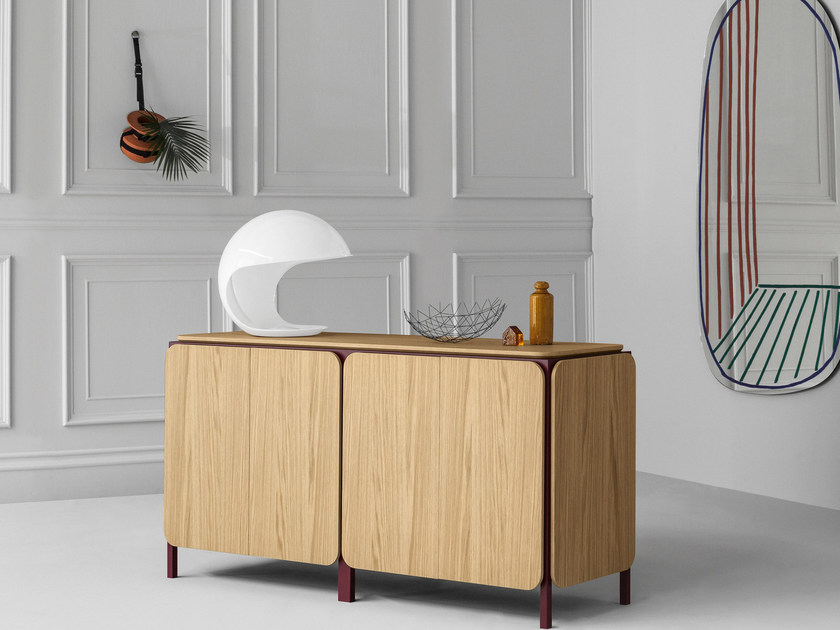 Wooden sideboard with doors FRAME | Sideboard by Bonaldo