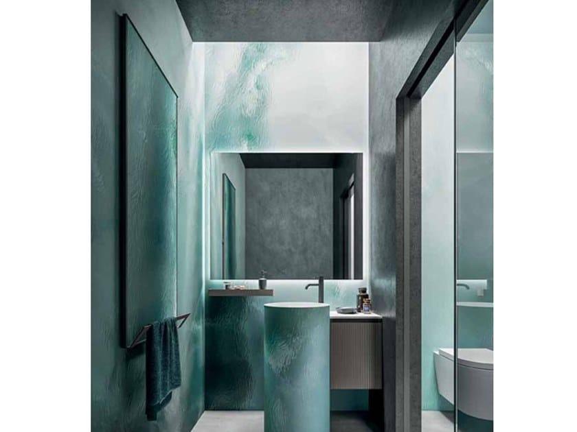 Scaldasalviette a pannello elettrico in gres porcellanato in stile moderno FRAME CAPSULE N.1 19 by Cerasa
