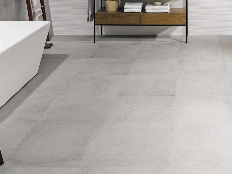 Wall/floor tiles with concrete effect FRAME CLEAR by Venis