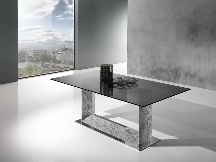 Rectangular Crystal Stone® table FRAME by Crystal Stone
