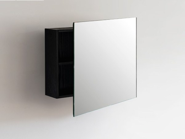 Wall-mounted mirror with cabinet FRAME | Mirror with cabinet by Ex.t