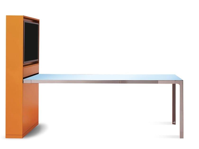 Rectangular laminate meeting table FRAME - MORE by ESTEL GROUP