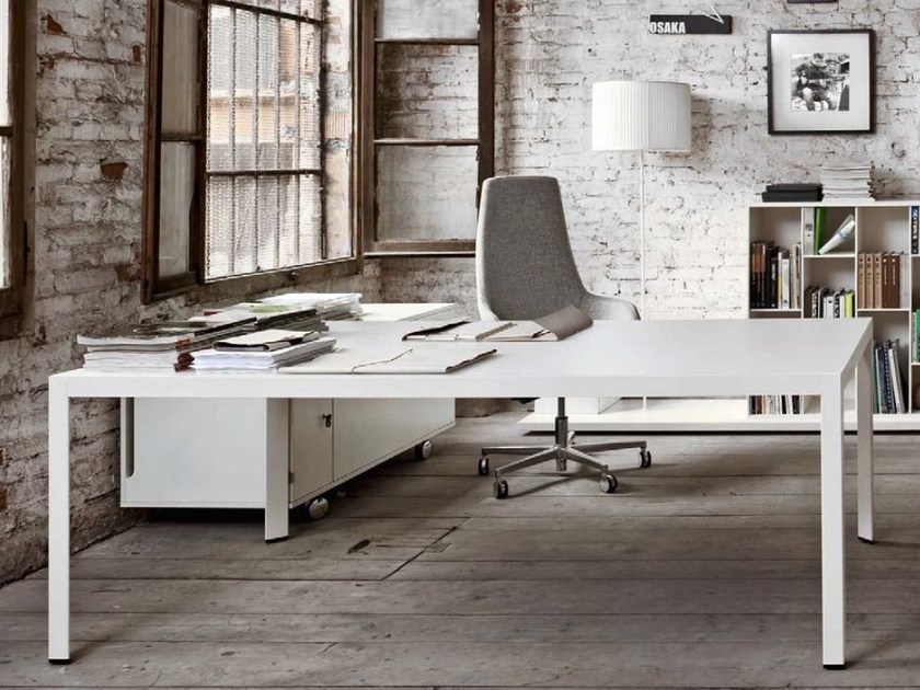 Rectangular executive desk FRAME + EXECUTIVE | Rectangular office desk by Sinetica