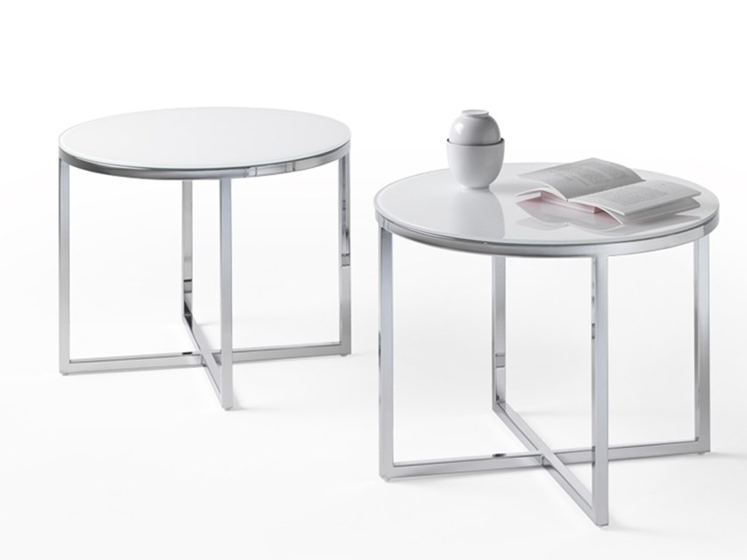 Round marble coffee table FRAME | Round bedside table by Marelli