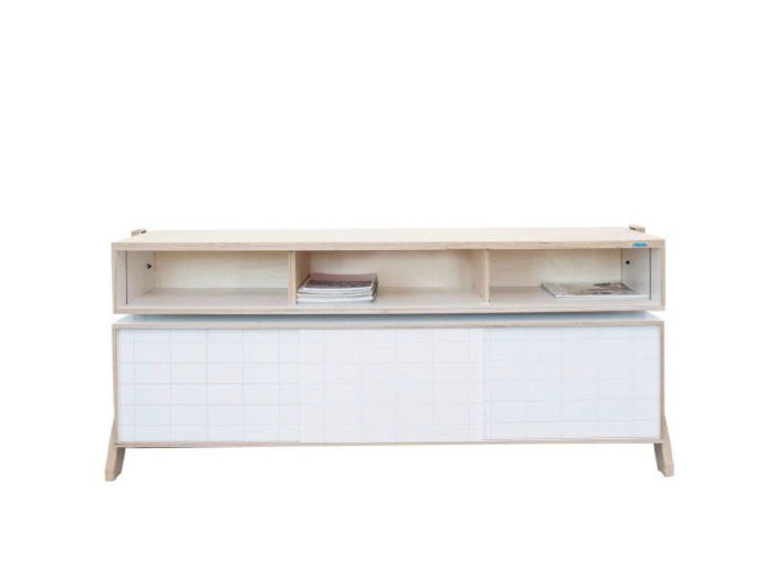 Multi-layer wood sideboard with sliding doors FRAME SIDEBOARD 02 MID by rform