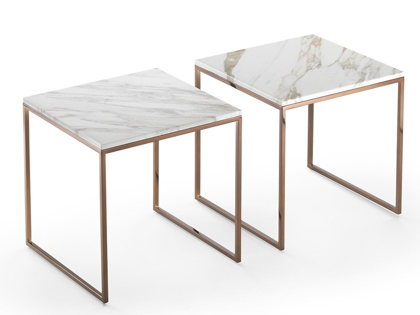 Square marble coffee table FRAME | Square bedside table by Marelli