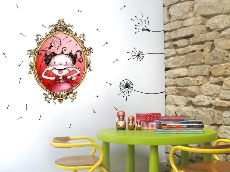 Kids wall sticker FRAMED FUNNY FACE by ACTE-DECO