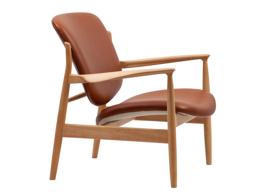 Leather chair with armrests FRANCE CHAIR | Leather chair by Onecollection