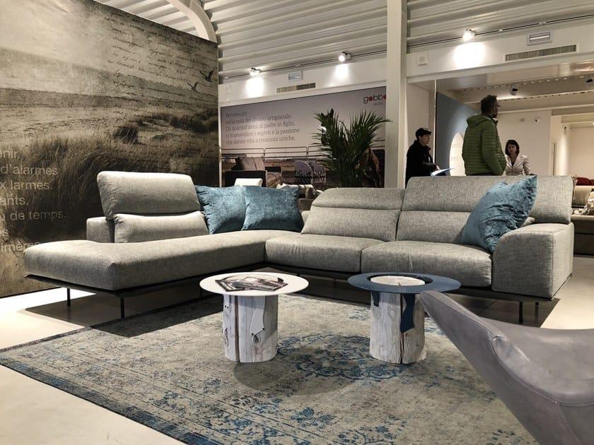 Corner fabric sofa with removable cover FRANK | Corner sofa by Gobbo Salotti